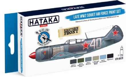 Hataka Late WWII Soviet Air Force Paint Set (Acrylic for Brush Painting)